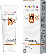 Düfte, Parfümerie und Kosmetik Kinderzahnpasta-Gel 2-6 Jahre mit Karamell-Geschmack - Dentissimo Kids Toothpaste Caramel