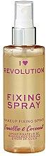 Düfte, Parfümerie und Kosmetik Make-up-Fixierer - Makeup Revolution Fixing Spray Vanilla Bean & Coconut
