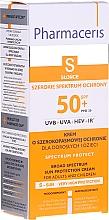 Düfte, Parfümerie und Kosmetik Sonnenschutzcreme für das Gesicht SPF 50+ - Pharmaceris S Broad Spectrum Sun Protect Cream SPF50