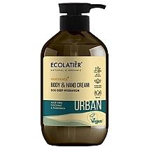 Düfte, Parfümerie und Kosmetik Feuchtigkeitsspendende Körper- und Handcreme mit Aloe Vera, Kokosnuss und Panthenol - Ecolatier Urban Moisturizing Body & Hand Cream