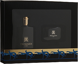 Düfte, Parfümerie und Kosmetik Trussardi Uomo - Duftset (Eau de Toilette/50ml + Seife/100g + Seifendose)