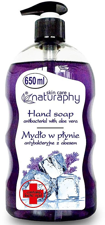 Antibakterielle Flüssigseife mit Lavendel und Aloe Vera - Bluxcosmetics Naturaphy Hand Soap