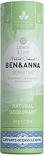 Düfte, Parfümerie und Kosmetik Deodorant Zitrone & Limette - Ben&Anna Natural Deodorant Sensitive Lemon & Lime