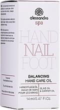 Düfte, Parfümerie und Kosmetik Handpflegeöl - Alessandro International Balancing Hand Care Oil