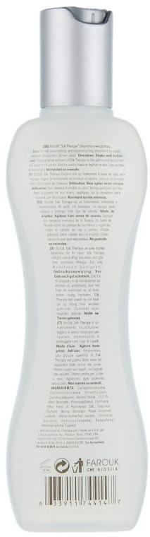 Regenerierende Bio Haarkur für trockenes und stumpfes Haar mit Seidenproteine - Biosilk Silk Therapy Original Silk Treatment — Bild N2