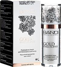 Düfte, Parfümerie und Kosmetik Verjüngende Creme für die Augenpartie mit Peptiden - Bandi Professional Gold Philosophy Rejuvenating Peptide Eye Cream