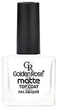 Düfte, Parfümerie und Kosmetik Mattierender Nagelüberlack - Golden Rose Matte Top Coat