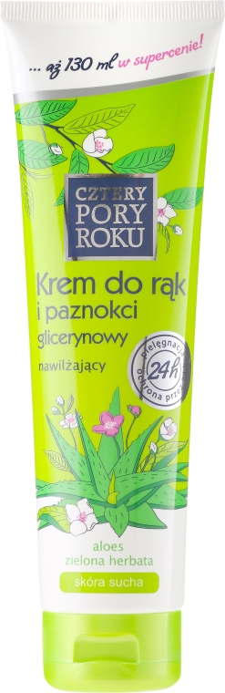 Feuchtigkeitsspendende Hand- und Nagelcreme mit Aloeextrakt - Pharma CF Cztery Pory Roku Hand Cream