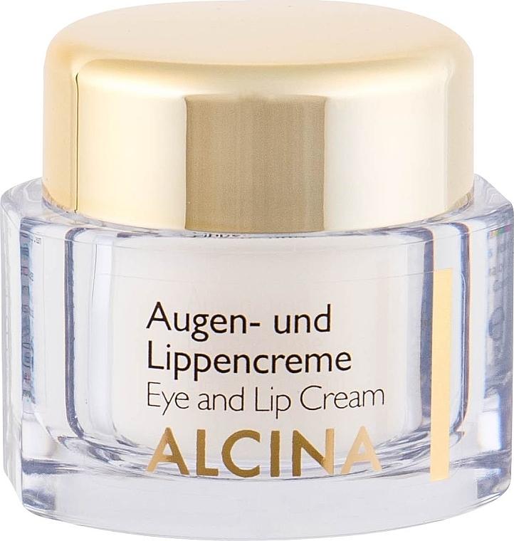 Anti-Aging Creme für Augenlider und Lippen - Alcina E Eye and Lip Cream — Bild N2