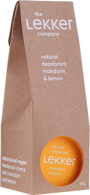 Deo-Creme mit Mandarine und Zitrone - The Lekker Company Natural Deodorant Mandarin & Lemon