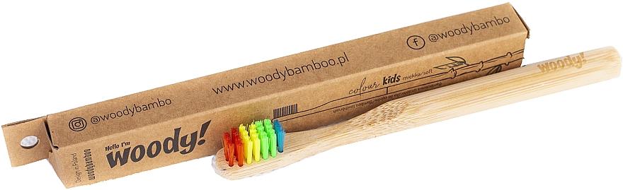 Bambuszahnbürste für Kinder weich Colour mehrfarbig - WoodyBamboo Bamboo Toothbrush Kids Soft/Medium