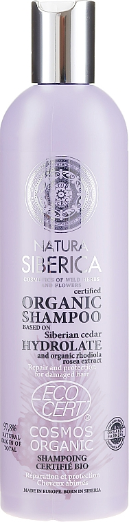 Reparierendes Shampoo für strapaziertes Haar - Natura Siberica Certified Organic Repair & Protection Shampoo