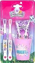 Düfte, Parfümerie und Kosmetik Zahnpflegeset für Kinder - Hatchimals (Zahnpaste 75ml+Zahnbürste 2 St.+Glas)