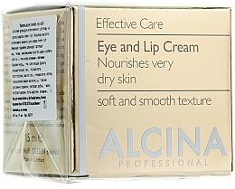Anti-Aging Creme für Augenlider und Lippen - Alcina E Eye and Lip Cream — Bild N1