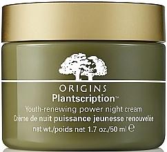 Düfte, Parfümerie und Kosmetik Erneuernde und verjüngende Nachtcreme für das Gesicht - Origins Plantscription Youth Renewing Power Night Cream