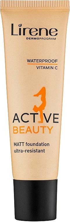 Wasserfeste Foundation - Lirene Active Beauty Matt Foundation Ultra-Resistant