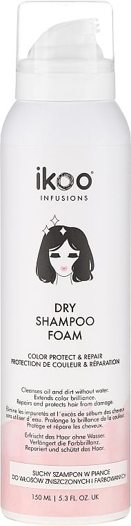 Reparierender und schützender Trockenshampoo-Schaum für mehr Farbbrillanz - Ikoo Infusions Shampoo Foam Color Protect & Repair — Bild N1