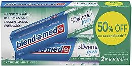 "Düfte, Parfümerie und Kosmetik Zahnpasta-Set ""3D White Fresh Extreme Mint Kiss"" - Blend-a-med 3D White Fresh Extreme Mint Kiss (Zahnpasta/2x100ml)"