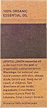 Ätherisches Öl Zitrone - Apivita Aromatherapy Organic Lemon Oil — Bild N3