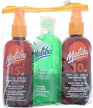 Düfte, Parfümerie und Kosmetik Sonnenpflege Set - Malibu (Sonnenschutzöl SPF 15 100ml + Aloe Vera Gel nach dem Sonnenbad 100ml + Sonnenschutzöl SPF 10 100ml)