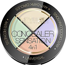 Düfte, Parfümerie und Kosmetik 4in1 Concealer-Palette - Eveline Cosmetics Concealer Sensation 4in1