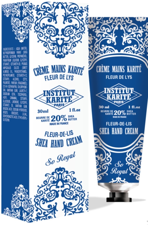 Feuchtigkeitsspendende Handcreme mit Sheabutter - Institut Karite So Royal Shea Hand Cream Fleur-de-Lis — Bild N1