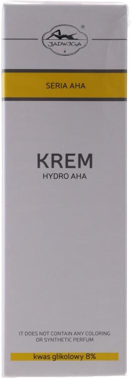 Feuchtigkeitsspendende, glättende und stärkende Gesichtscreme gegen Pigmentflecken mit Glykolsäure - Jadwiga Hydro AHA Cream