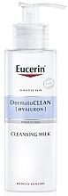Düfte, Parfümerie und Kosmetik Gesichtsreinigungsmilch für trockene und empfindliche Haut - Eucerin DermatoClean Hyaluron Cleansing Milk