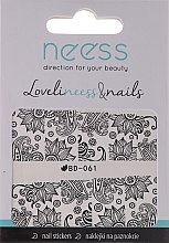 Düfte, Parfümerie und Kosmetik Dekorative Nagelsticker 3685 BD-061 - Neess LoveliNeess & Nails