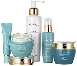 Düfte, Parfümerie und Kosmetik Gesichtspflegeset - Oriflame NovAge Skinergise Set (Reinigungsgel-Tonic 200ml + Augencreme 15ml + Gesichtsserum 30ml + Tagescreme 50ml + Nachtcreme 50ml)