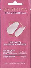 Düfte, Parfümerie und Kosmetik Nährende Gesichtsmaske für trockene und sehr trockene Haut mit Rosenwasser - Dermika Satisfaction Rose Nourishing Mask