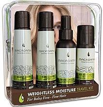 Düfte, Parfümerie und Kosmetik Haarpflegeset - Macadamia Professional Natural Oil Weightless Moisture Travel Kit (Shampoo 100ml + Conditioner 100ml + Conditioner 100ml + Haaröl 50ml)
