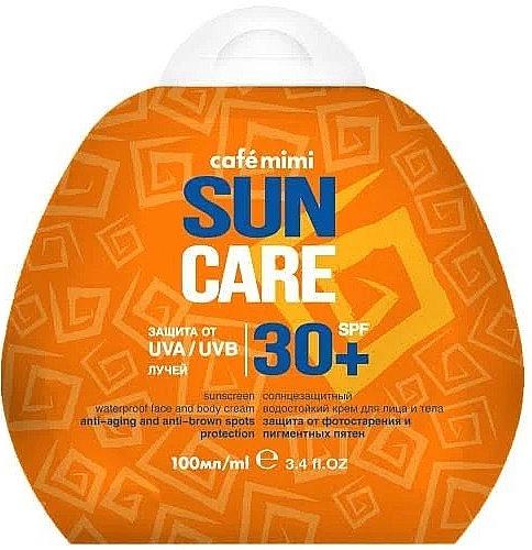 Wasserfeste Anti-Aging Sonnenschutzcreme für Körper und Gesicht gegen Pigmentflecken SPF 30+ - Cafe Mimi Sun Care