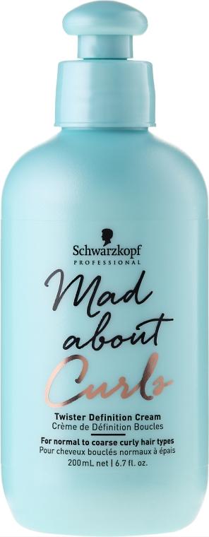 Haarcreme für normales bis widerspenstiges Haar - Schwarzkopf Professional Mad About Curls Twister Definition Cream