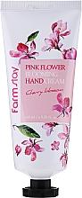 Düfte, Parfümerie und Kosmetik Handcreme Kirschblüte - FarmStay Pink Flower Blooming Hand Cream Cherry Blossom