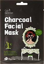 Düfte, Parfümerie und Kosmetik Erfrischende Tuchmaske mit Bambuskohle - Cettua Charcoal Facial Mask