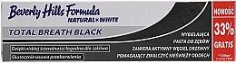 Düfte, Parfümerie und Kosmetik Aufhellende Zahnpasta mit Aktivkohle Total Breath Black - Beverly Hills Formula Natural White Total Breath Black