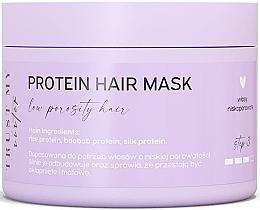 Düfte, Parfümerie und Kosmetik Maske mit Proteinen für Haar mit niedriger Porosität - Trust My Sister Low Porosity Hair Protein Mask