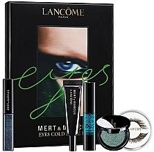 Düfte, Parfümerie und Kosmetik Make-up Set (Flüssiger Lidschatten 4.5ml + Lidschatten 2g + Künstliche Wimpern 2 St. + Wimpernkleber 1g + Mascara 8ml) - Lancome Eyes Cold As Eyes Kit Blue