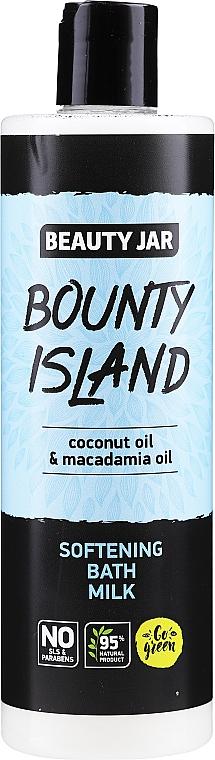 Aufweichende Bademilch mit Kokosnuss- und Macadamiaöl - Beauty Jar Bounty Island Softening Bath Milk