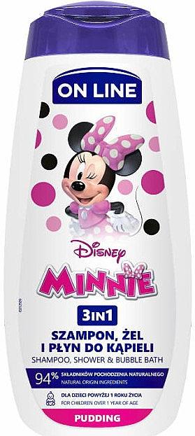 3in1 Shampoo, Dusch- und Badeschaum mit Pudding-Duft - On Line Kids Disney Minnie