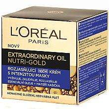 Düfte, Parfümerie und Kosmetik Nährende, beruhigende und aufhellende Nachtcreme-Maske - L'Oreal Paris Nutri Gold Extraordinary Oil Night Cream