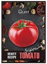 Düfte, Parfümerie und Kosmetik Aufhellende Gesichtsmaske mit Tomatenextrakt - Quret Beauty Recipe Mask Tomato Brightening