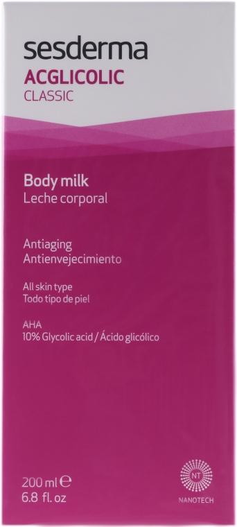 Feuchtigkeitsspendende Körpermilch - SesDerma Laboratories Acglicolic Body Milk — Bild N1