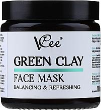 Düfte, Parfümerie und Kosmetik Erfrischende Gesichtsmaske mit grünem Ton - VCee Green Clay Face Mask Balancing&Refreshing