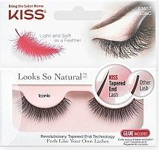 Düfte, Parfümerie und Kosmetik Künstliche Wimpern - Kiss Look So Natural Lashes Iconic