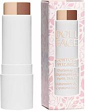 Düfte, Parfümerie und Kosmetik 2in1 Konturstick und Highlighter für das Gesicht - Doll Face Contour Wizard Contour Split Sticks