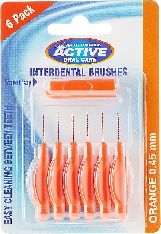 Interdentalzahnbürsten 0,45 mm orange 6 St. - Beauty Formulas Active Oral Care Interdental Brushes Orange