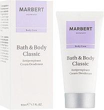 Düfte, Parfümerie und Kosmetik Deo-Creme Antitranspirant - Marbert Bath & Body Classic Anti-Perspirant Cream Deodorant