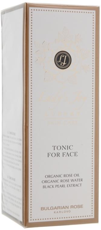 Erfrischendes Gesichtstonikum für normale und Mischhaut mit Bio Rosenöl, Rosenwasser und schwarzem Perlenextrakt - Bulgarian Rose Lady's Joy Luxury Tonic For Face